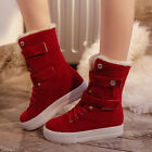 New Fashion Women's Winter Leisure Buckle Solid Warm Boots Snow Flat Boots