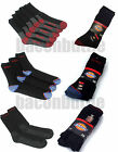 Dickies Work Cushioned 2,3 and 5 Pack Socks With Reinforced heel and Toe Black