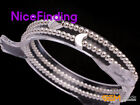 3mm Round Silver Ball Elastic Bracelet Rings Fashion Jewelry Kids Christmas Gift