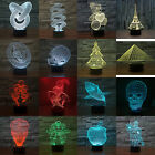 3D LED Lamp Touch Switch Night Light 7 Color Change Desk Lamp 3D Perspective +