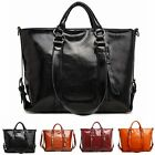 Fashion women Leather large official Elegant solid tote satchel Purse handbag