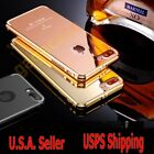 Luxury Ultra-Thin Polished Plated Metal Cover Case For Apple iPhone 7 /7 Plus +