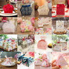 50X Hot Sale Various Design Wedding Favour Boxes Candy Gift Party Boxes Ribbons
