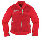 Icon Women's Hella 2 Textile Jacket Red XS/X-Small