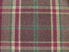 Elgin Plum Wool Effect Washable Thick Tartan Check Upholstery Curtain Fabric