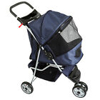 Blue Pampered Pet 3-Wheel Jogging Stroller Dog Travel Carrier PET-STR-18-BLUE