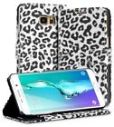 Fosmon CADDY-LEOPARD Leather For Samsung Gakaxy S6 Edge Plus Card Wallet Case