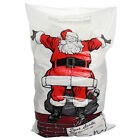 PACK OF 4 GIANT SIZE JUMBO PLASTIC CHRISTMAS SANTA SACK STOCKING PRESENTS BAG