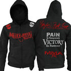 Muay Thai Fighting Zip-Up Gym Hoody NHB bjj new UFC MMA w FREE Tapout Sticker
