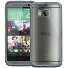 For HTC One (M8) 2014 Bumper Clear Back Slim Hybrid Case Cover Skin Protective
