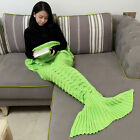 Super Soft Warm Mermaid Tail Sofa Blanket Hand Crocheted Knitting Wool For Adult