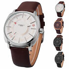 Fashion Men's Party Synthetic Leather Band Analog Quartz Wrist Watch 4 Styles