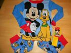 New Boys Mickey Mouse & Pluto Clubhouse Toddler pajamas Sleepwear  3T 4T 5T