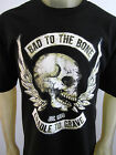 Bad to the Bone Skulls Biker party tee shirt men's black choose A size