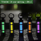 Titanium Hang Keychain Self Illuminating Fluorescence Glow Light Tritium Marker