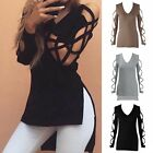 Fashion Women Summer Long Sleeve Shirt Casual Blouse Loose Cotton Tops T Shirt