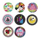 "Kids Party Themes - 8 x 7"" Paper PLATES (Boy/Girl/Children Birthday PARTY RANGE)"