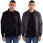Mens Casual Street Wear Sweats Zip Through Bomber Jacket by L&F sizes S-XXL