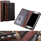 Antique Leather Wallet Retro Vintage Old Classic Book Cover Case For Iphone6/6S