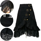 Womens Winter Steampunk Black Thick Lace Skirt Party Club Lolita Rock A Dress