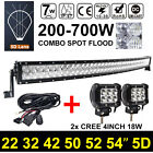 LED CURVED LIGHT BAR COMBO 4D 5D 22 32 42 50 52 54INCH 2/3/4/500 520 480 700W