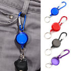1/2Pc Badge Reel Carabiner Recoil Retractable Holder Pass ID Card Yoyo Key Chain