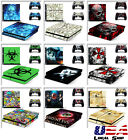 Customized Vinyl Decal Sticker Skins Cover for Sony PS4 Console & 2 Controllers