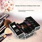 Abody Makeup Train Case Bag Jewelry Storage Box Cosmetic Organizer &4 Trays Z5T6