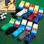 British Style Plaid Gradient Color elite long cotton socks rhombi happy socks JR
