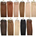 "New 18/20/22"" 50g 100S Micro Ring Loop Beads Tipped Remy Human Hair Extensions"
