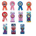 Kids Character AWARD RIBBONS Birthday Party Range (Tableware & Decorations)