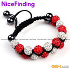 10mm Handmade Rhinestone CZ Crystal Ball Adjustable Bracelet Women Jewelry Gift