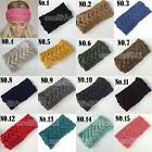 Womens Crochet Headband Knit Hairband Flower Winter Lady Ear Warmer Headwrap