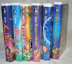 6 DISNEY VHS BLACK DIAMOND ALADDEN RESCUERS BAMBI BEAUTY AND THE BEAST CINDERELL