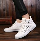 Retro Punk Rock Men New Lace Up High Top Shoes Outdoor Sneakers Ankle Boots Size
