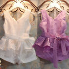 Nice Suit New oddler Baby Girls Dress Set Outfits 2PCS Top+Pants+Belt Clothing