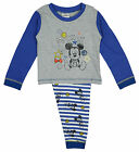 Boys Disney Baby Toddler Mickey Mouse Buttons Pyjamas Grey 6 to 24 Months