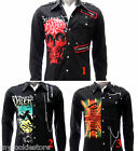 Rock Band Long Sleeve Shirt Bullet For My Valentine Tee Jacket Punk Skull LANC