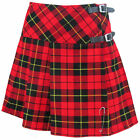"Tartanista Wallace Scottish 20"" Mini Kilt Skirt Leather Straps & Free Pin"