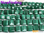 Square Natural Green Malachite Genuine Stone Beads For Jewelry Making Strand 15""