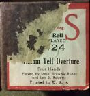 QRS Word Roll WILLIAM TELL OVERTURE Four Hands Mm. Sturkow-Ryder Lee S Roberts