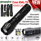 5000LM CREE T6 ZOOM LED Flashlight G700 Military Torch Lamp Battery Charger free