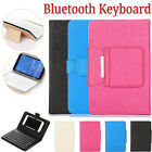 Bluetooth Keyboard Case For 4.5-10 inch Cell Phone Tablet PC Leather Stand Cover