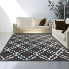 Brown Contemporary Moroccan Trellis Area Rug Modern Geometric Diamond Print