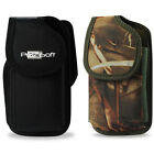 For Samsung phone XL RUGGED Carry Case Holster Pouch + Belt Clip (Camo OR Black)