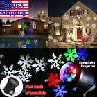 XMAS Snowflake Laser LED Landscape Light House Garden Holiday Projector IM34 US