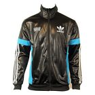 Mens Adidas Originals Chile 62 TT Black Track Suit Top Jacket Retro Wet Look TT1