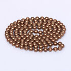 """s291 long AAA 8mm White Black coffee gray livid Round Shell Pearl Necklace 30"""""""