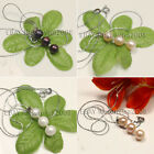 Lovely fashion 8-9mm white pink black round freshwater cultured pearl pendant