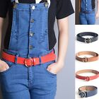 Women Lady 4 Colors For Choose Waistband Faux Leather Thin Belt Circle Xmas Gift